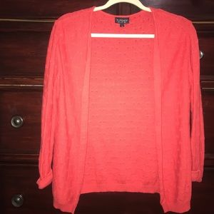 Topshop Red Knitted Cardigan